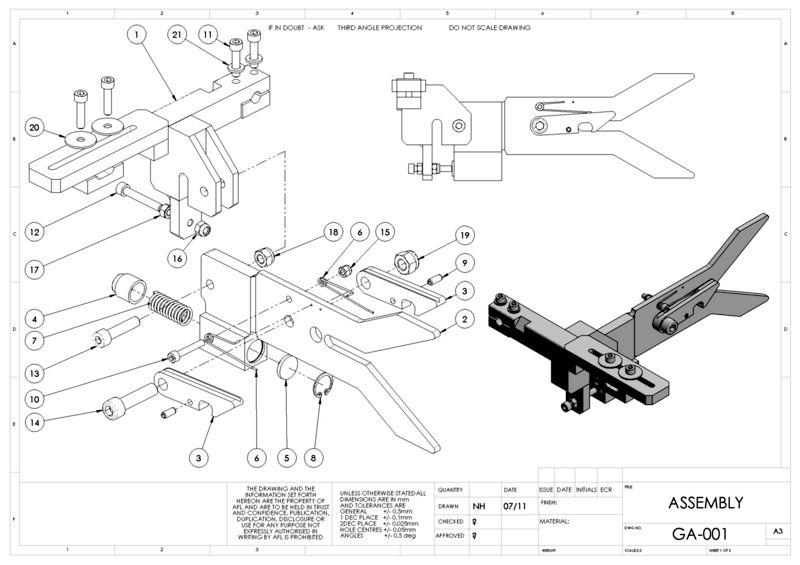 Exploded assembly drawing solidworks on bad connecting rod